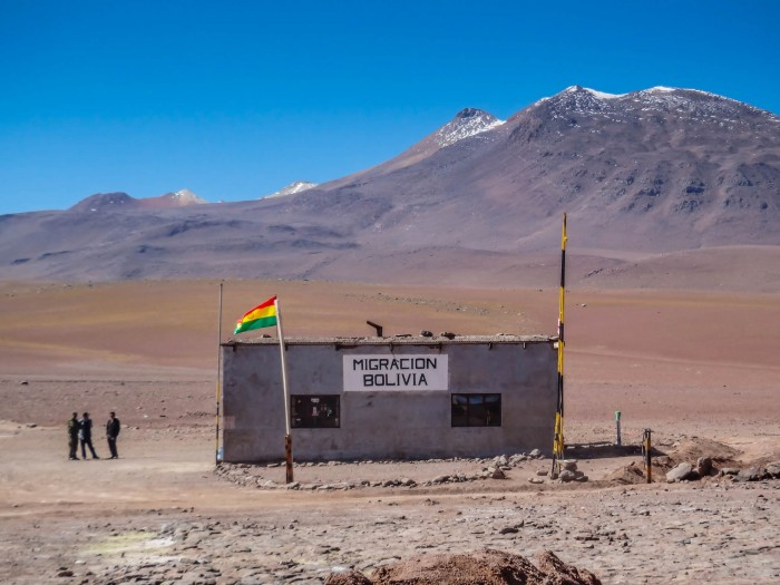 Grenze Bolivien Passkontrolle